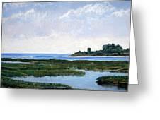 Massachussetts Marsh Morning Greeting Card by Lorraine McFarland