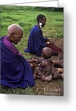 Massai Women And Child - Tanzania Greeting Card by Craig Lovell