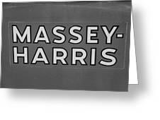 Massey Harris Greeting Card