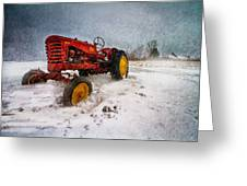 Massey Harris Mustang Greeting Card