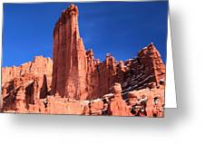 Massive Fisher Tower Greeting Card