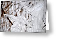 Massive Icicles Greeting Card