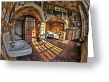 Master Bedroom At Fonthill Castle Greeting Card by Susan Candelario