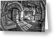 Master Bedroom At Fonthill Castlebw Greeting Card