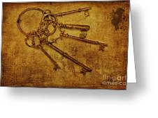 Master Keys Greeting Card