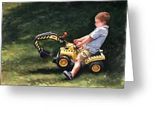 Mastering The Backhoe Greeting Card