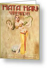 Mata Hari Vintage Wine Ad Greeting Card by Cinema Photography