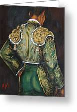 Matador In Green Greeting Card