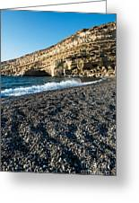 Matala Beach Greeting Card