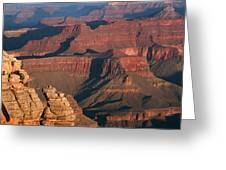 Mather Point At Sunrise On The Grand Canyon Greeting Card
