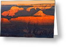 Mather Point Sunrise Grand Canyon National Park Greeting Card