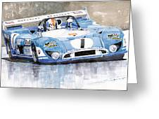 1973 Matra Simca 670b Francois Cevert Greeting Card