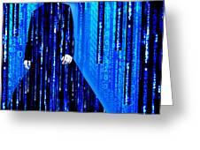 Matrix Neo Keanu Reeves 2 Greeting Card