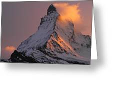 Matterhorn At Sunset Greeting Card by Jetson Nguyen