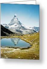 Matterhorn Cervin Reflection Greeting Card
