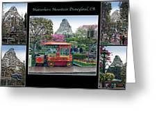 Matterhorn Mountain Disneyland Collage Greeting Card