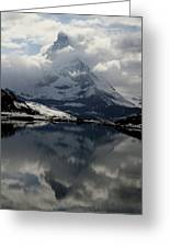 Matterhorn Reflection From Riffelsee Lake Greeting Card