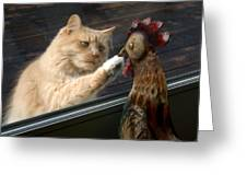 Matty And Rooster #1 Greeting Card