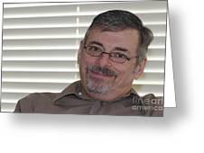 Mature Man Looking At Viewer Greeting Card by Lee Serenethos