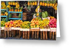Maui Fruits And Vegetables Greeting Card
