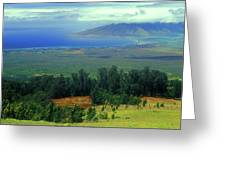Maui Hawaii Upcountry View Greeting Card