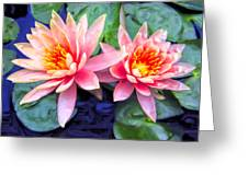 Maui Lotus Blossoms Greeting Card