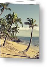 Maui Lu Beach Hawaii Greeting Card