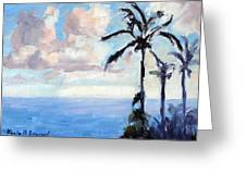 Maui Palms Greeting Card