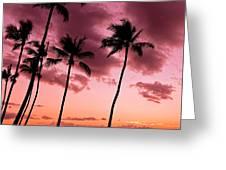 Maui Silhouette Sunset Greeting Card