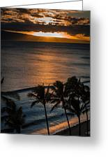 Maui Sunset 1 Greeting Card