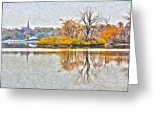 Maumee River Looking Toward Perrysburg Greeting Card