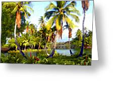 Mauna Lani Fish Ponds Greeting Card
