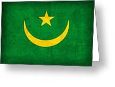 Mauritania Flag Vintage Distressed Finish Greeting Card