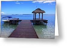 Mauritius Blue Sea Greeting Card