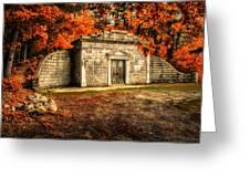 Mausoleum Greeting Card by Bob Orsillo