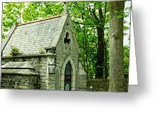 Mausoleum In Cemetery Greeting Card