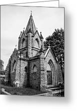 Mausoleum New England Black And White Greeting Card