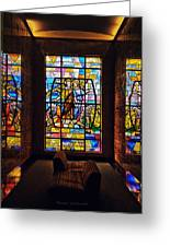 Mausoleum Stained Glass 01 Greeting Card