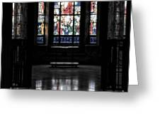 Mausoleum Stained Glass 05 Greeting Card