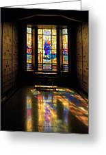 Mausoleum Stained Glass 06 Greeting Card
