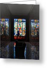 Mausoleum Stained Glass 07 Greeting Card