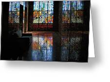 Mausoleum Stained Glass 08 Greeting Card
