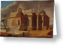 Mausoleum With Stone Elephants Greeting Card