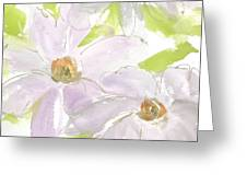 Mauve Clematis Greeting Card