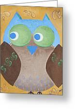 Maverick The Owl Greeting Card
