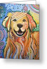 Max ... Abstract Dog Art...golden Retriever Greeting Card