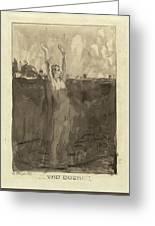Max Klinger German, 1857 - 1920, Und Doch Greeting Card