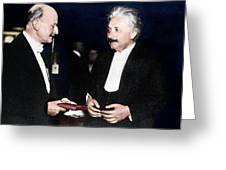 Max Planck And Albert Einstein Greeting Card
