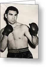 Max Schmeling Greeting Card
