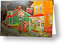 Max Segal's New Glasgow Store Montreal Memories Greeting Card